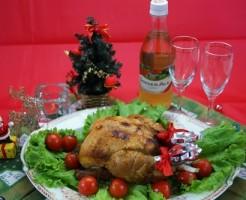 クリスマスチキン料理