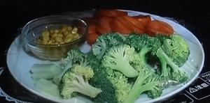 お魚ハンバーグ 野菜