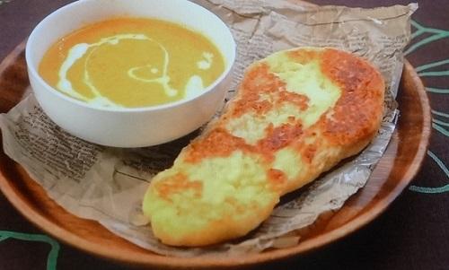 バターチキン風カレーとナンのレシピ