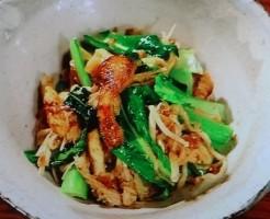 (炒めた)小松菜+常備菜
