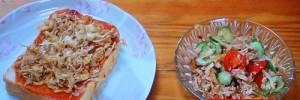 「チーズトースト」と「イタリアンサラダ」