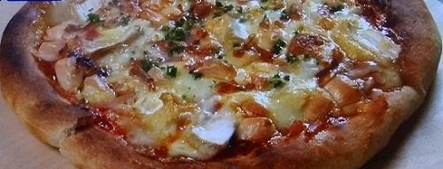 焼き魚のグリルでピザ