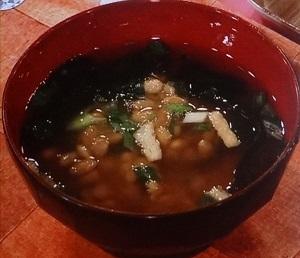 チゲ鍋風納豆みそスープ
