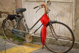 自転車で美脚