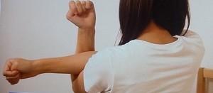 肩甲骨簡単ストレッチ