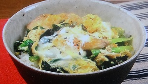 ぶりの卵とじ丼