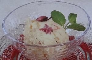 桜アイスのレシピ