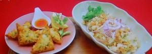 えびトースト&ヤムウンセン(春雨サラダ)』