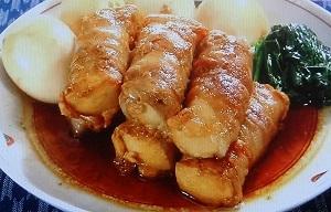 高野豆腐で豚の角煮