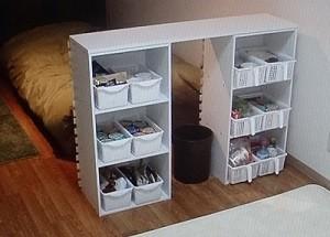 カラーボックス×ゴミ箱で ゴミ捨てテーブル