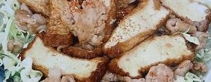 厚揚げと豚肉のしょうが焼き