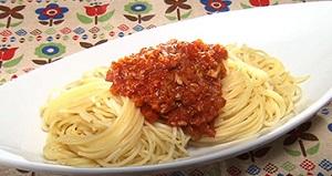 サバのミートソーススパゲティ
