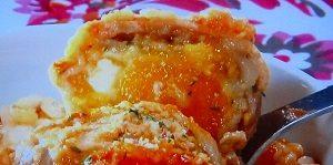 肉巻き冷凍卵のトマト煮