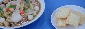 八宝菜と海鮮おこげ