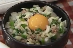 かさまし餃子丼