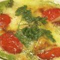 アボカドと豆腐のジェノベーゼソース チーズ焼き