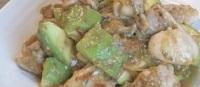 鶏とアボカドの味噌照り焼