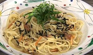 お茶漬けの素&梅肉の時短パスタのレシピ