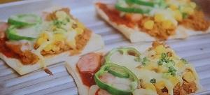 食パンでピザ