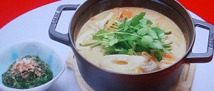 杉本彩の粕汁鍋のレシピ