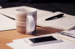 手帳文房具コーヒー