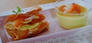 焼き芋でミルフィーユ&プリンのレシピ