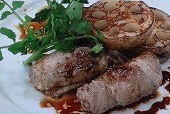 れんこんと豚肉ロールの蒸し焼き