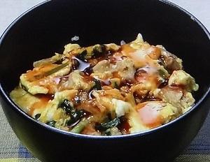 豚ニラ玉ピリ辛あんかけ丼のレシピ