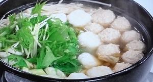 鶏つくねだまっこ鍋のレシピ