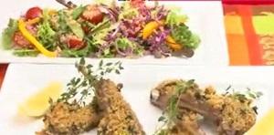 ミーのラムチョップ&キヌアサラダのレシピ