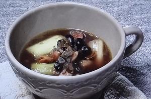 黒豆とねぎ、フェンネルのカレースープのレシピ