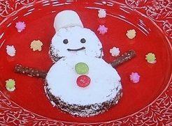 ナッチョコ雪だるまのレシピ