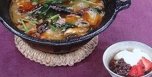 四川風ラーユ鍋&豆花