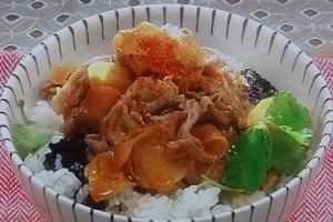 平野レミのしょうが焼き丼のレシピ