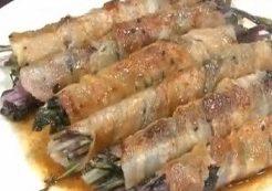 赤水菜の肉巻きのレシピ