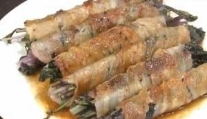 北斗晶の赤水菜の肉巻きのレシピ