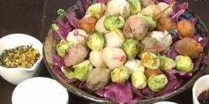 北斗晶の芽キャベツの素揚げのレシピ