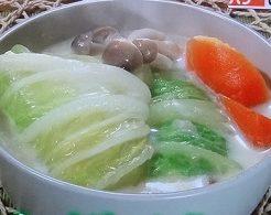 白菜ロールのクリーム煮のレシピ