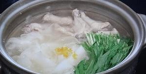 ピーラー大根鍋のレシピ