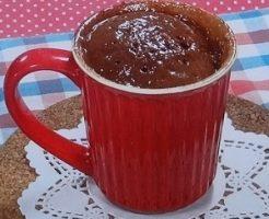 マグカップのチョコケーキ