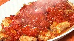 ウル得マンのチキントマト煮のレシピ