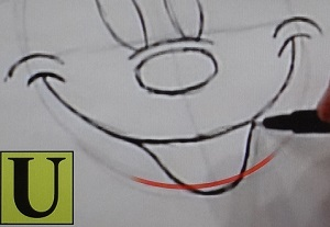 ミッキーマウスの書き方2