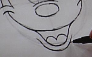 ミッキーマウスの書き方4