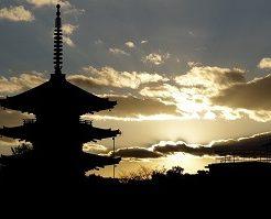 京都、五重塔