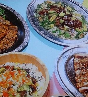 マグロのサラダ、ちらし寿司