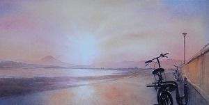 野村重存先生の「海と夕日」