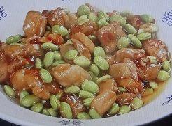 枝豆と鶏肉の甘酢炒めのレシピ