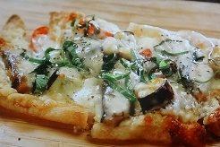 塩サバの油あげピザ