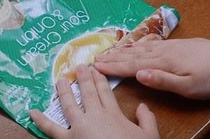 お菓子の袋の閉じ方