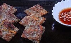 茶がらと根菜のチヂミ